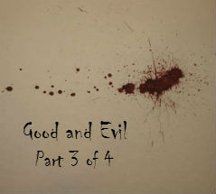 Pilgrim's Rock Blog Post by Dr. Craig Biehl - Is Evil Required to Know Good? - Red Paint Splotch on Tan Canvas