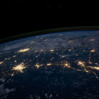 How to Develop a Comprehensive and Intellectually Defensible Worldview - Free Live Webinar with Dr. Craig Biehl - planet earth with city lights
