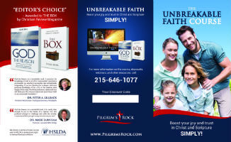 Pilgrim's Rock Unbreakable Faith Online Video Course Brochure Outside View