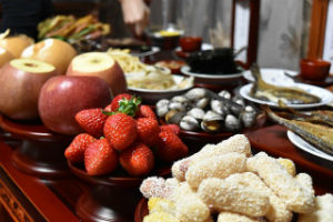 From Weeping to Feasting in Babylon - Weekly Blog Post by Dr. Craig Biehl - fruit and deserts on a table